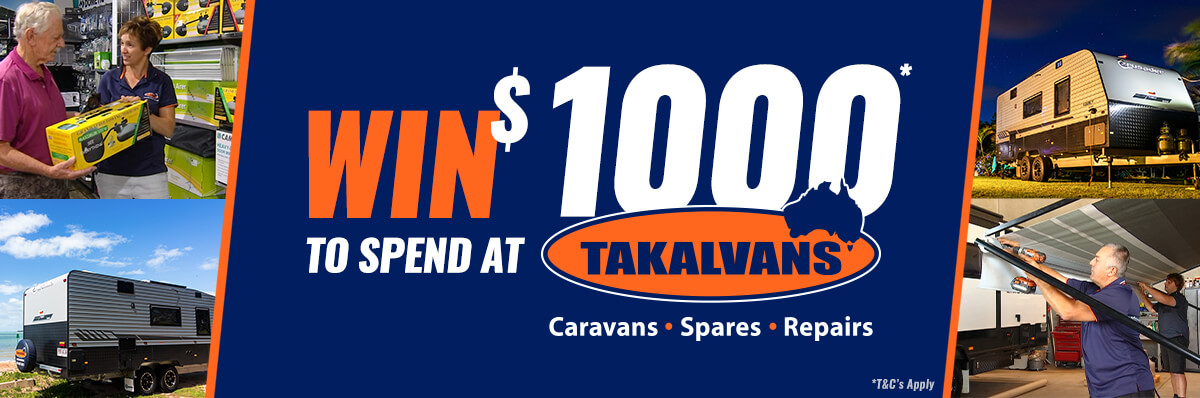 Win $1000 to spend at Takalvans!